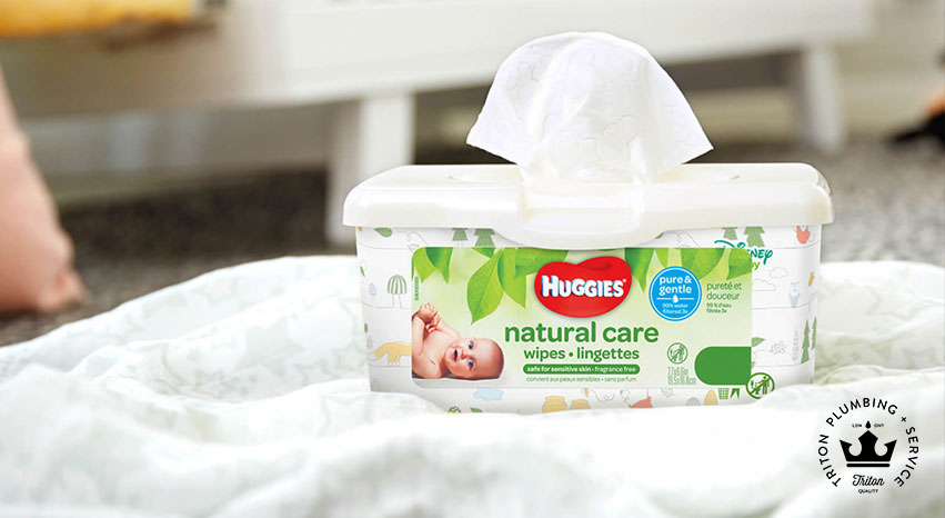 DO NOT Flush Baby Wipes Down The Drain...EVER | Triton Plumbing Service London Ontario Plumber