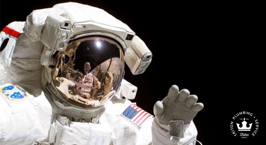 plumbing and astronaut's in space | Triton Plumbing Service London Ontario Plumber