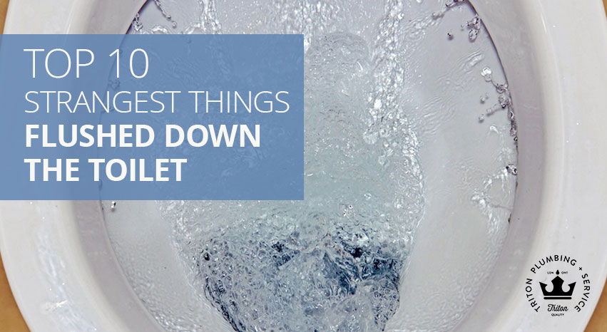 Top 10 Strangest Things Flushed Down The Toilet | Triton Plumbing Service London Ontario Plumber